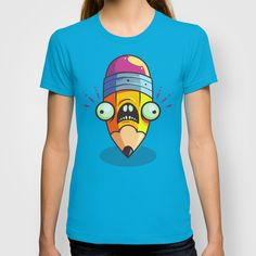 Stumpy Pencil T-shirt by Artistic Dyslexia. artisticdyslexia.com Also available in Adult and Children's Apparel; Prints and Cards; iPhone, iPod and iPad Cases; iPhone, iPod, iPad and Laptop Skins; Throw Pillows; Tote Bags; Wall Clocks; Mugs and Rugs!
