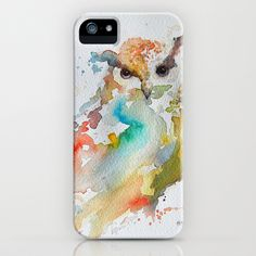 Colorful+Owl+iPhone+&+iPod+Case+by+hildemeyer+-+$35.00