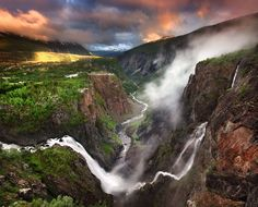 Vøringsfossen is one of Norway's largest waterfalls  by Stephen Emerson