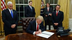 President Donald Trump on Monday will start to unravel the behemoth trade deal he inherited from his predecessor, as he signed an executive action to withdraw from the negotiating process of the Trans-Pacific Partnership.