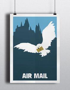 Harry Potter Air Mail movie print 16.5 x 11.7 por MeetMeInShermer