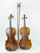 Two Antique Cased Violins and Bows WWW.JJAMESAUCTIONS.COM