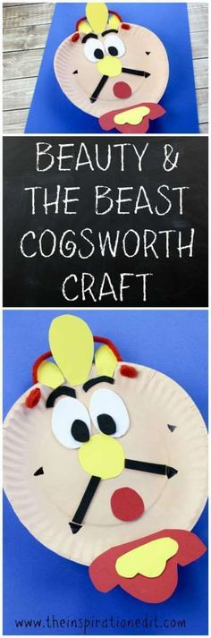 Beauty And The Beast Cogsworth Clock Craft. This is a fantastic and easy to follow paper craft for Kids and Disney lovers.