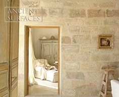 Stone color and wall cladding from Ancient Surfaces NY