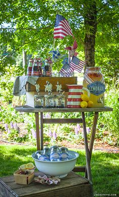Vintage 4th of July Party #4thofjuly #party