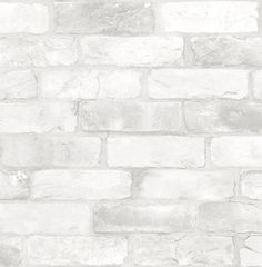 Make your space feel like a trendy loft with a faux exposed brick wall. The white bricks provide a crisp backdrop to style your home decor around. Loft White Brick Peel & Stick Wallpaper comes on one roll that measures x White Brick Wallpaper, Rustic Wallpaper, White Brick Walls, Wall Wallpaper, White Bricks, White Brick Backsplash, Classic Wallpaper, Embossed Wallpaper, Whitewash Brick Backsplash