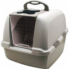 Catit Jumbo Hooded Cat Litter Pan - Warm Gray         >>> To view further for this item, visit the image link. (This is an affiliate link) #PetSupplies
