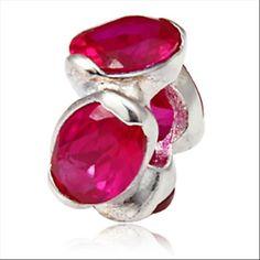 Pink Oval Lights Fits Pandora Charm