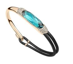 Gold Plated Austrian Crystal Minecraft Fashion Leather Bracelets