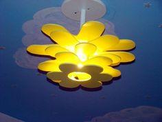 Fotos de Luminaria para decoração de quarto infantil, bebê e crianças. Uberlândia tipo florzinha múltipla amarela