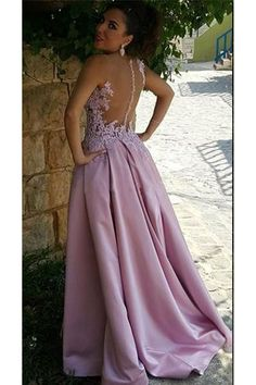 2017 Pink Delicate Buttons Sleeveless A-Line Appliques Prom Dress_High Quality Wedding Dresses, Prom Dresses, Evening Dresses, Bridesmaid Dresses, Homecoming Dress - Blush Pink Prom Dresses, Prom Party Dresses, Formal Evening Dresses, Formal Gowns, Homecoming Dresses, Evening Gowns, Bridesmaid Dresses, Party Gowns, Bride Dresses