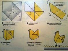 gallina origami - Buscar con Google