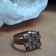 Scorch Basket ring. Solid bronze basket weave top, solid copper band. With my one of a kind scorch technique. Size 9.5. #handmade #jewelry #metalsmith #rustic #industrial #artisan #bronze #copper #metal #punk #goth #steampunk #edgy #rocker
