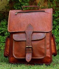 44ca6fb1fc handmadecraft Vintage Bag Leather Handmade Vintage Style Backpack College  Bag College Bags