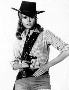 Jane Fonda in Cat Ballou Western Film, Western Movies, Jane Fonda Barbarella, Cat Ballou, Barefoot In The Park, Lee Marvin, Yvonne Craig, Calamity Jane, Dolly Parton
