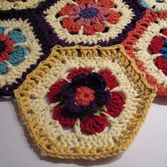 Just like the beautiful primrose flower, the Primrose Crochet Hexagon pattern will brighten any room. This free crochet hexagon pattern has an optional inner flower pattern to make this flower three dimensional.