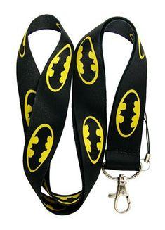 cartoon kids batman black key chain Lanyard PVC ID Badge Holder Key Neck Strap