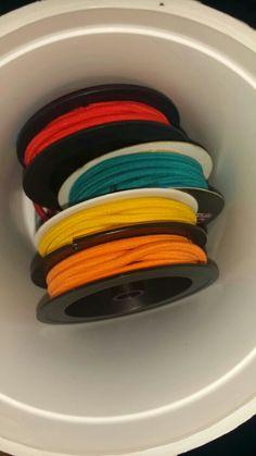 Reuse those kanthal spools ladies! They make great hair tie organizers!