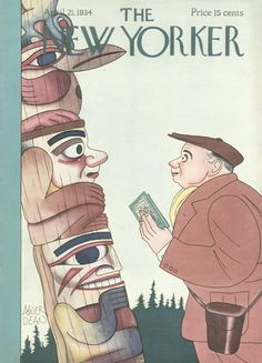 The New Yorker - Saturday, April 21, 1934 - Issue # 479 - Vol. 10 - N° 10 - Cover by : Abner Dean