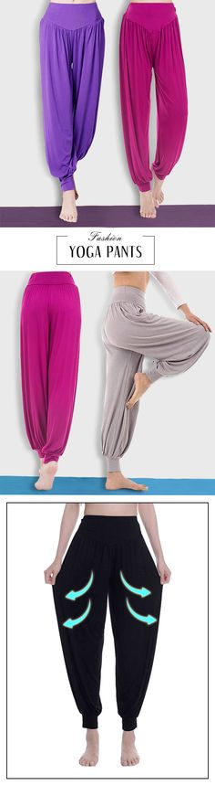 US$ 12.37 Solid Loose Pleated Harem Dance Yoga Pants