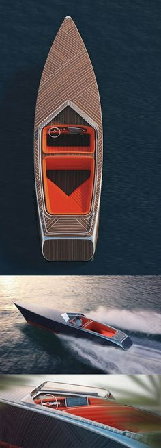 Nicer and more creative product designs. ZEBRA BOAT by Dimitri Bez Yacht Design, Boat Design, Speed Boats, Power Boats, Yacht Luxury, Course Vintage, Build Your Own Boat, Diy Boat, Boat Stuff