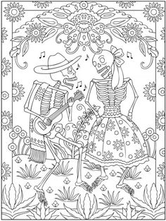 freebie day of the dead coloring page