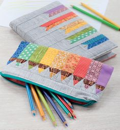 Artist's Sketchbook Cover and Pencil Pouch by Adrienne Smitke