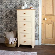 Mottisfont Painted Tall 6 Drawer Chest - The Cotswold Company