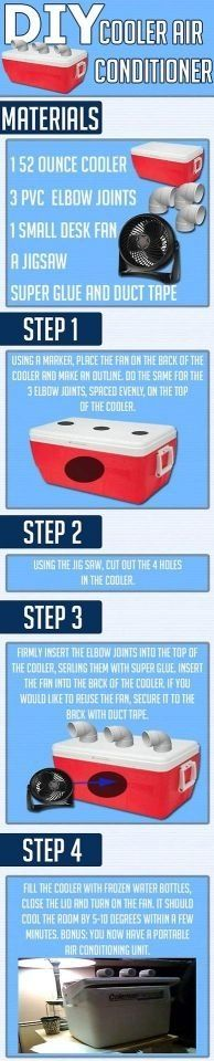 Funny pictures about How to make your own cooler air conditioner. Oh, and cool pics about How to make your own cooler air conditioner. Also, How to make your own cooler air conditioner. Do It Yourself Jewelry, Do It Yourself Home, Cooler Air Conditioner, Diy Cooler, Room Cooler, Do It Yourself Furniture, New Energy, It Goes On, Back To Nature