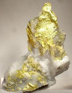 Gold Leaf with Milky Quartz / Red Lake Mine, Ontario, Canada