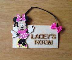 Hand painted Minnie Mouse room plaque