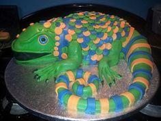 Lizzard Cake Henry b-day 9th Birthday Cake, Bithday Cake, Birthday Ideas, Cupcake Cakes, Kid Cakes, Cupcake Ideas, Cupcakes, Lizard Cake, Little Boy Cakes