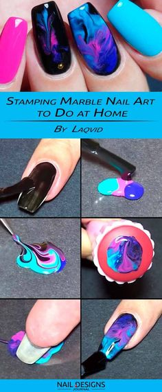 Stamping Marble Nail Art to Do at Home
