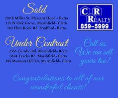 Flint Rock, Missouri Real Estate, Oak Grove, Congratulations