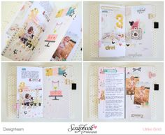 TN Tutorial Scrapbook Werkstatt - Maggie Holmes / Crate Paper `Carousel' - Ulrike Dold Project Life, Crate Paper, Mail Art, Travelers Notebook, Special Day, Mini Albums, Crates, Layout, Memories