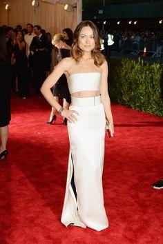 Todas las fotos de celebrities y de alfombra roja de la gala del MET 2013: Olivia Wilde de Calvin Klein