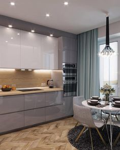 Luxury Kitchen - Regardless of whether you're planning for a move to another house or you essentially need to a kitchen redesign, these astounding kitchen Minimalist But Luxurious Kitchen Design thoughts will prove to be useful. Home Kitchens, Kitchen Design Small, Kitchen Redesign, Luxury Kitchens, Kitchen Cabinet Design, Modern Kitchen, Kitchen Room Design, Kitchen Interior, Interior Design Kitchen