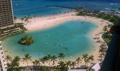 Lagoon at Hilton Hawaiian Village - Oahu