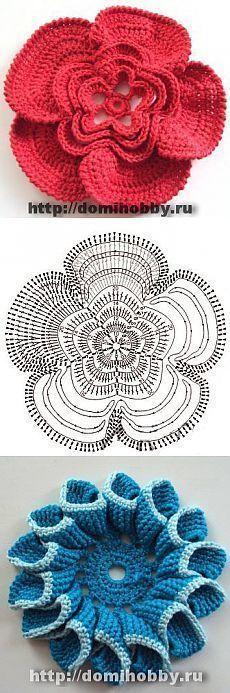 Flor muy fácil de Crochet