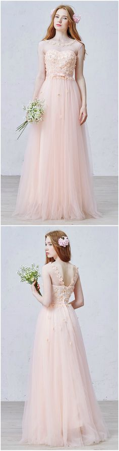 Custom made-to-order formal dress by GemGrace. Multiple colors and all sizes available. Additional photos also available upon request. Shop this feminine and romantic, flowers scoop neck bridesmaid dress on GemGrace.com, enjoy free shipping today!
