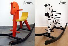 Rocking Horse >> Rocking Zebra Makeover | via The Bear & The Fox