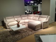White leather sectional by HTL Furniture. // .KeyHomeFurnishings.com in Portland : htl furniture sectional - Sectionals, Sofas & Couches