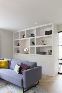 Femkeido | vrijstaande woning – Vught Living Room Storage, Living Room Built Ins, Commercial And Office Architecture, Home Decor, Living Room Wall Units, House Interior, Home Office Design, Small Room Bedroom, Home And Living