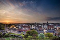 Drogheda sunset from Millmount