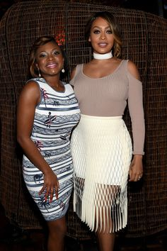 Naturi Naughton and La La Anthony attend the New York premiere of 'The Girlfriend Experience'