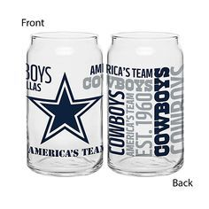 Dallas Cowboys Spirit Glass Can