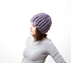 Chunky hat, knit chunky hat, wool hat, merino wool hat