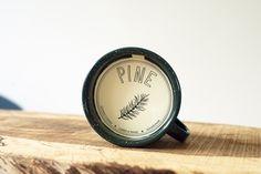 Pine mug candle