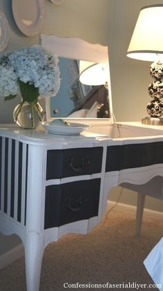 paint is interesting, but this is exactly the style of dressing table i want.