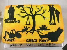 90th birthday cake. Generation cake. Grandfather cake.